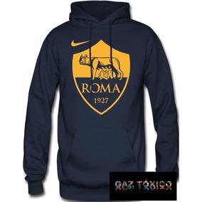 Sudadera As Roma Club De Fútbol Hoodie Capucha Cangurera ba5241e4695