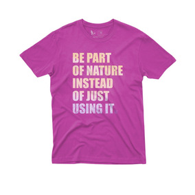 Camiseta Masculina Estampada Be Nature Woops