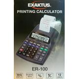 Calculadora Exaktus Er-100 Con Impresora