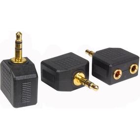 Adaptador Convertidor Plug 3.5 Macho A Dos 3.5 Hembra Sky