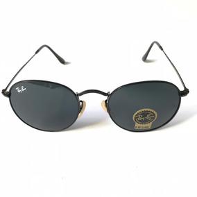043d1b3a32b1c Oculos De Sol Unissex Metal Redondo Retro Masculino Uv400