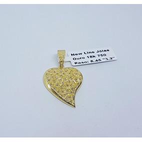 10256030067e1 Pingente Ouro 18k 750 Coração Cravejado Com Brilhantes 8
