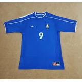 Gcr35 Camisa Oficial Brasil Copa 1998  9 Ronaldo G 78x53 5510a01be43b4