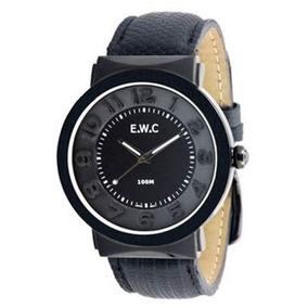 0adde0d44a7 Relógio Unissex Ewc Grande Eft11376-p Preto Pulseira Couro