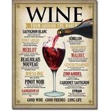 Anuncio Poster Lamina Metalico Vintage Vino Wine World 0203