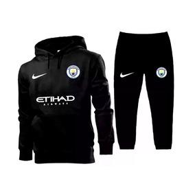 5bbab447ea Blusa Moletom + Calça Conjunto Manchester City Time Futebol