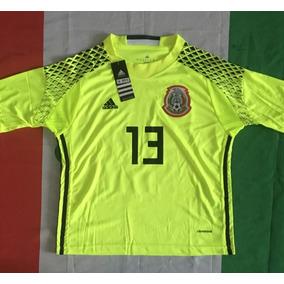 Increible Jersey Portero Mexico M. Ochoa 13 Niño Verde Limon 82dc9627172af