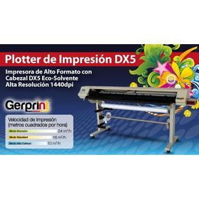 Plotter De Impresion Eco Solvente Cabezal Dx5