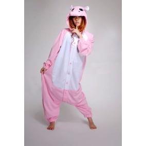 Pijama Tierna Adulto Unisex Cosplay Costume Hipopótamo Pink d3f9815b1900