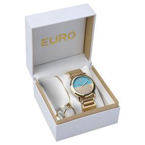 ad948a58458 Relogio Euro Azul Turquesa E - Relógios no Mercado Livre Brasil