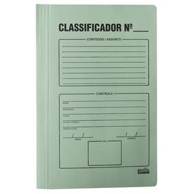 Pasta Classificadora P/documentos C/ Impressao Verde