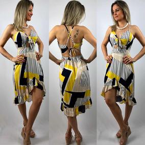 62bd6ba9c Vestido Estampado Elastico Na Cintura - Vestidos no Mercado Livre Brasil