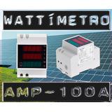 Wattímetro Medidor Consumo 45kw 200-450v Ac 100a Voltímetro