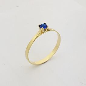 Anel De Ouro 14 Com Pedra Azul - Joias e Relógios no Mercado Livre ... f39648f04e
