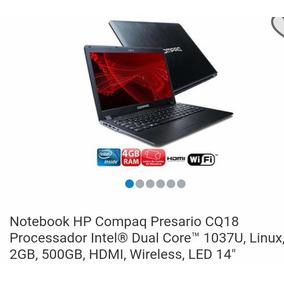 Notebook Compaq Presario Intel Celeron 1.80ghz 1037u. 4gb D