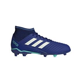 Botines Con Tapones adidas Predator 18.3 Fg J Niño Az/az