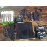Xbox 360 Slim 250 Gb Kinect + Dos Controles Original
