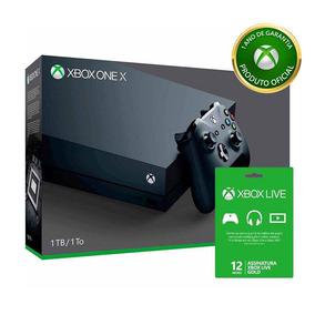 Kit Xbox One X - 1 Tb + Live 12 Meses