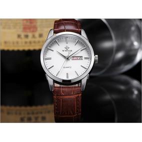 4f76be1ceac Relógio Curren Quadrado Masculino Quartz Marrom Prata - Relógios De ...