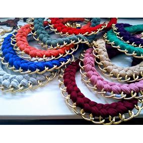 99cdbee38750 Lote 10 Collares Trenzados Sencillas Bisuteria Joyeria