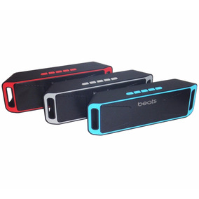 Corneta Portatil Beats 208 Luz Led Bluetooth Speaker Radio