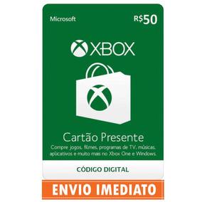 Microsoft Gift Card 50 Reais Cartão Presente Xbox Live Br
