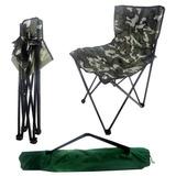 Cadeira Araguaia Dobrável Camping Pesca - Camuflado Bel Fix