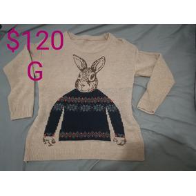 Sweater Tejido Conejo Hipster Talla L