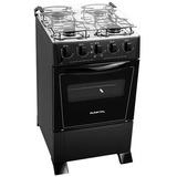 Cocina Punktal Monte Carlo 4 Hornallas S/gas En Negro Pk375c