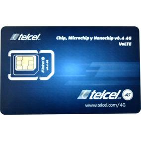 100 Chips Express Telcel Sim 4g Lte V6.4 Monterrey Lada 81