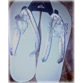 Sandalia Branca Com Atrass