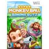 Videojuego Super Monkey Ball: Banana Blitz Para Wii