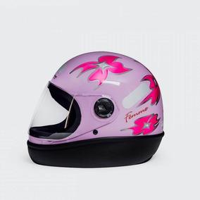 Capacete Feminino Para Moto Taurus Fórmula 1 Femme Lilas