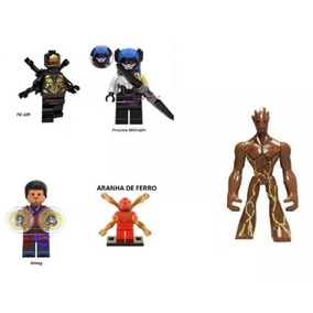 5 Bonecos Wong Outrider Midnight Groot Aranha Compa. Lego abd03d0dce080