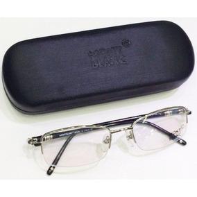 01517067fe6ac Armação Oculos De Grau Montblanc Mb89 Preta Meio Aro Linda! R  119 99