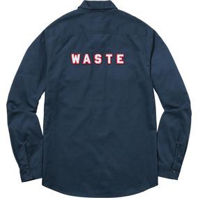 Supreme Camisa Manga Larga - Waste - Talla L