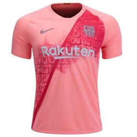 Barcelona 2019 Jersey Visita Rosa Nike Playera Messi Suarez 1235b85538b