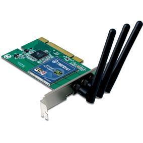 Adaptador De Red Pci Trendnet Tew-623pi Wi-fi 300mbps 3 Ant