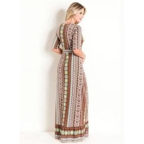 Vestido Transpassado Étnico Moda Evangélica
