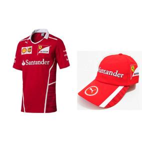 Camiseta + Boné Santander Ferrari Puma Original Kapela 2935225b955