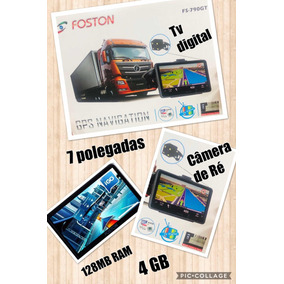 Gps Foston Novo Fs-790gt 7 Polegadas Tv Digital+câmera De Ré