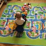 Maboshi Ciudad Carretera Alfombra Tapete Para Bebes 2x1.6m
