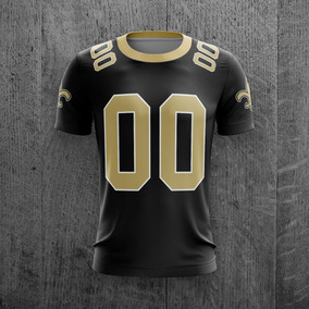 Camiseta Nfl New Orleans Saints Personalizada C  Nome f145eb523ac2a