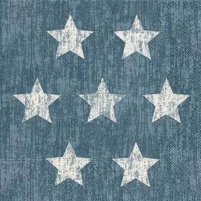 Guardanapo Stella Blue, 33x33 Cm - Paper Design