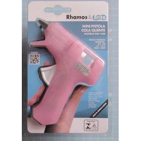 Pistola Cola Quente Rosa (mini) - Rhamos & Brito
