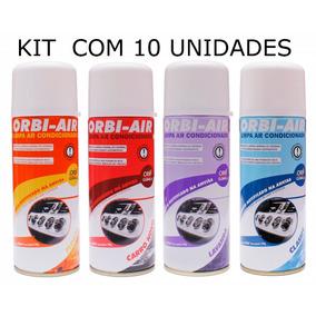 Kit 10 Spray Limpa Ar Condicionado Automotivo Orbi Air