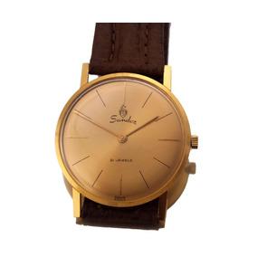 Relógio De Pulso Sandoz 21 Jewels Em Ouro 18k J19996
