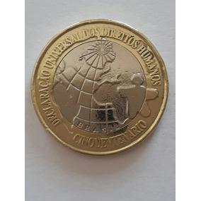 Moeda De R$ 1,00 Declaração Universal Dos Direitos Humanos