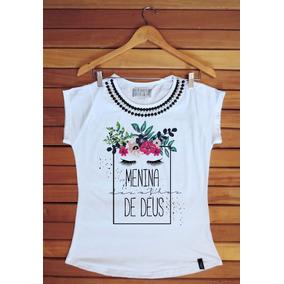 Kit 20 Camisetas Feminina Gospel - Com Pedras Aplicadas