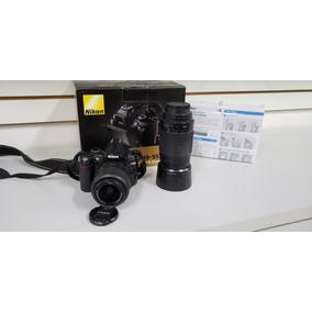 Nikon D5000 + Lente 70-300 Mm + Bolsa
